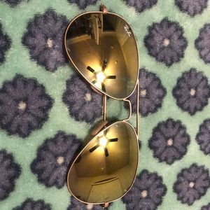 Ray ban with gold lenses